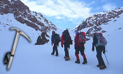 CAMP Neve Walking Axe on Winter Toubkal Ascent