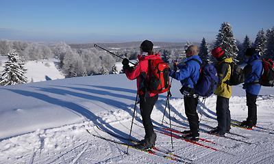 Ski touring the Jura