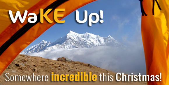 WakE up somewhere incredible this Christmas on a KE Adventure