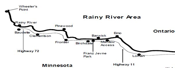 Current open water report on the rainy river open water for Rainy river fishing report