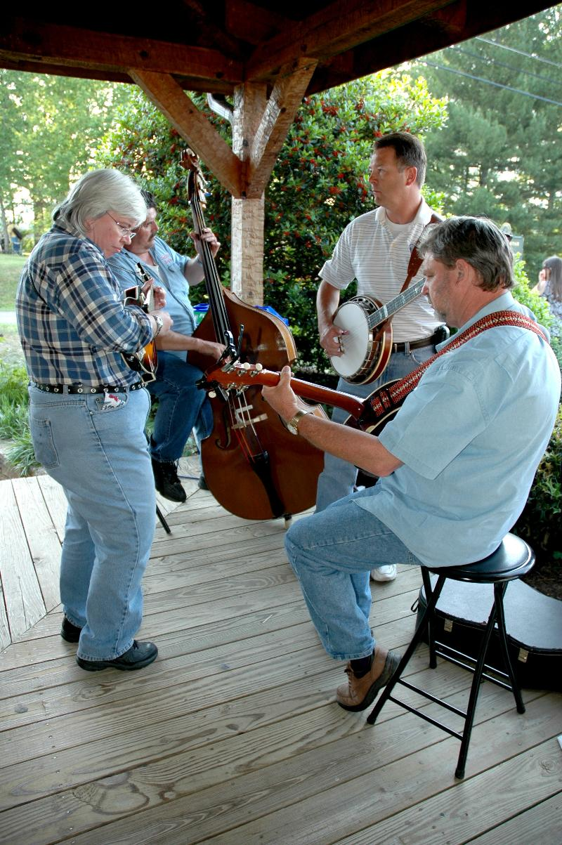 One of the dozens of small groups jamming at the 2011 Spring Festival at the Townsend Visitor Center