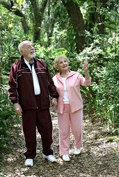 Elderly Couple enjoying Life because of successful estate planning