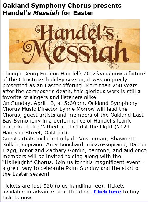 Handel's Easter Messiah