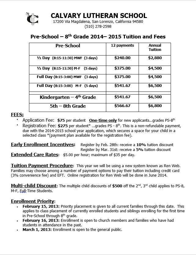 Tuition & Fees 2014-15