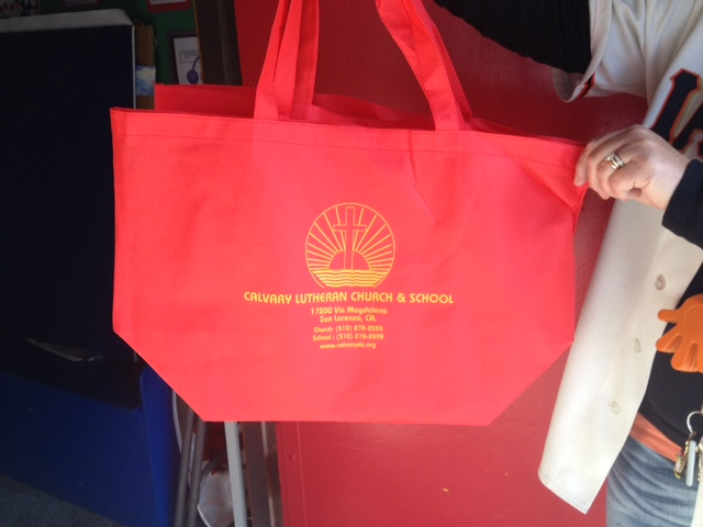 Calvary Red Shopping Bag