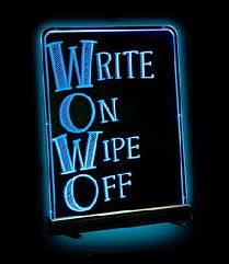 Write On Wipe Off