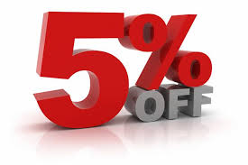 5% Off Discount