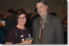 Susan Swackhammer and MPP Paul Miller