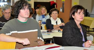 Members attending a meeting.