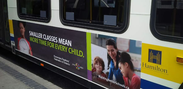 ETFO bus ad - photo by Jay Keddy, HWETL