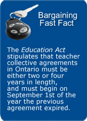 Teacher agreements in ON must be 2 or 4 years in length