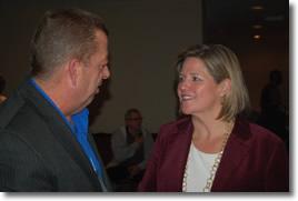 President Hammond with NDP Leader Andrea Horwath