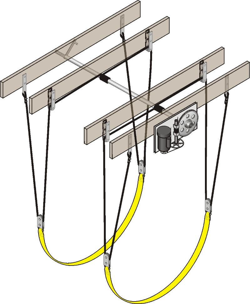 Boat house boat lifts for Outboard motor lifting strap