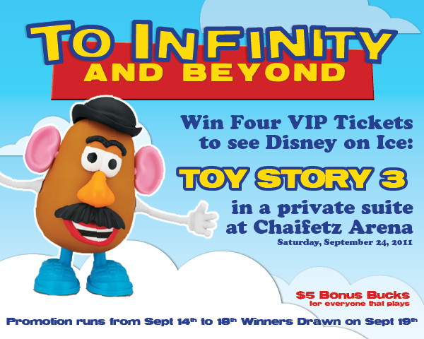 Infinity and Beyond promotion