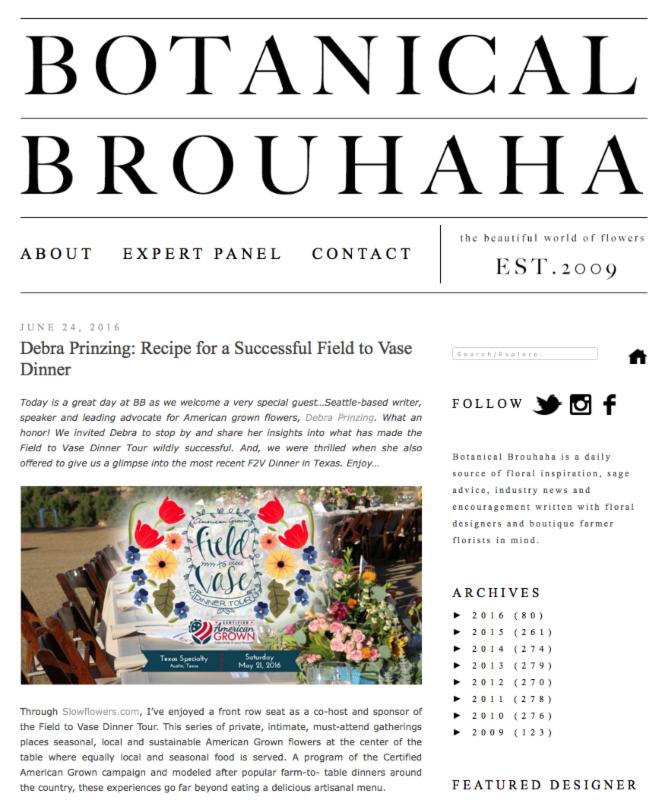 Botanical Brouhaha