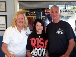 Karen, Bree, Grandpa Eldon