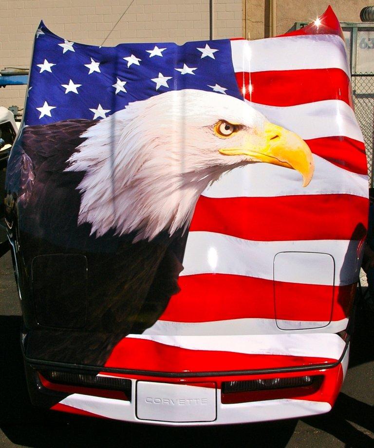 Eagle Flag Hood