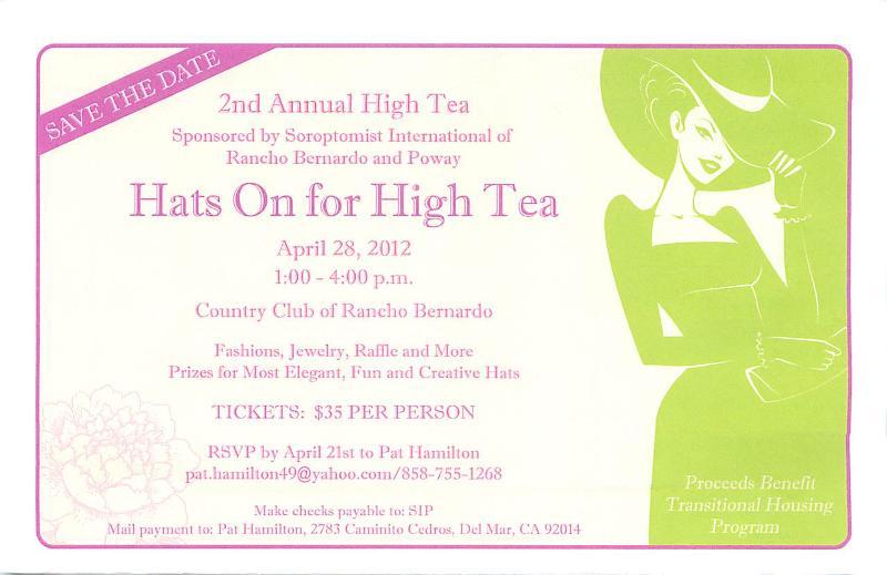 Soroptimist High Tea 4/28/12