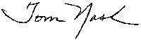 Tom Nash Signature