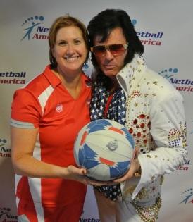 Sonya with Elvis