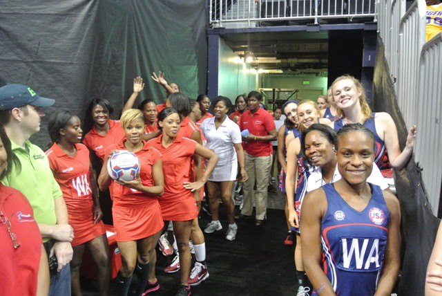 Backstage at Atlanta Dream