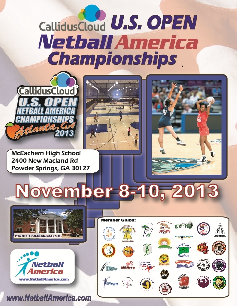 US Open Netball Champs 2013 general flyer