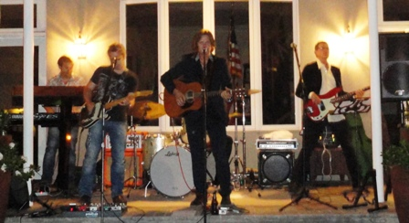 The band at the charity event