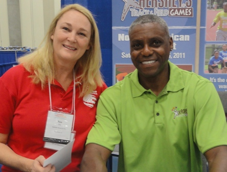 Ros and Carl Lewis