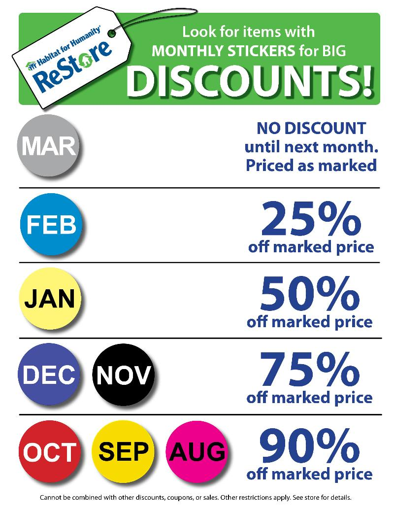 Weekly Specials at the ReStore!