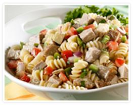 pasta and pork salad