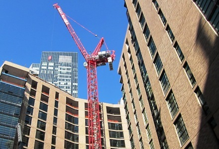 Millennium Place Construction Crane