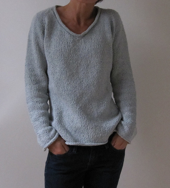 Top down pullover