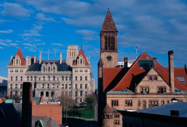 Albany, NY, capital of the Empire State.
