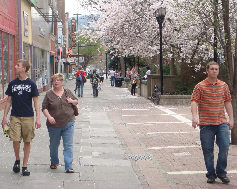 Ithaca Commons in Spring
