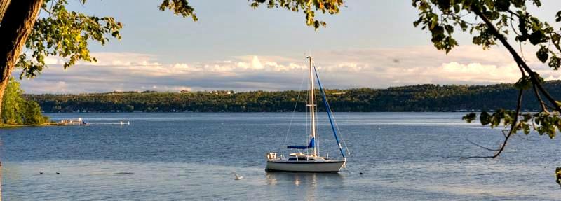 Sailing on Cayuga Lake
