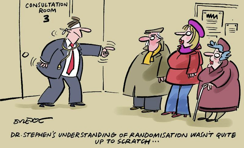 Randimized trial cartoon