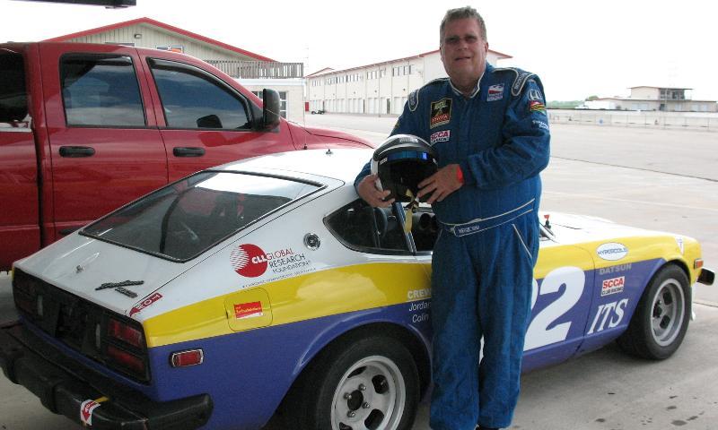 Brian Goldman with race car