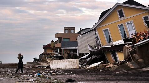 Wrecked Beachhomes litter NJ coast