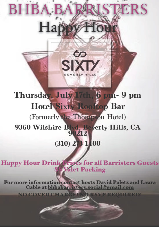 Barristers Happy Hour