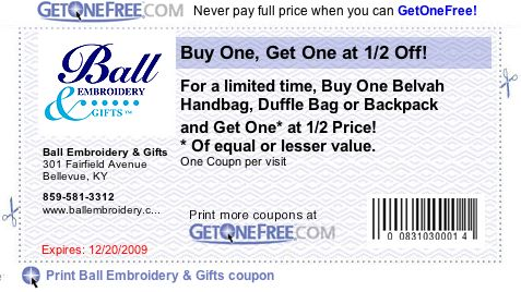 Ball Embroidery Coupon
