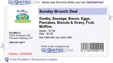 PeeWee's coupon