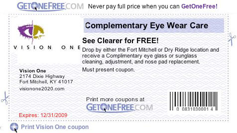 Vision One Coupon