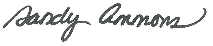 Sandy Ammons signature