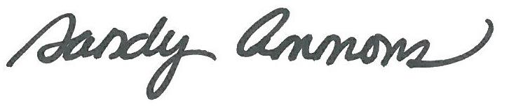 Sandy Ammons signature
