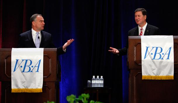 US Senate Debate at VBA meeting. Photo by Bob Brown, Richmond Times-Dispatch