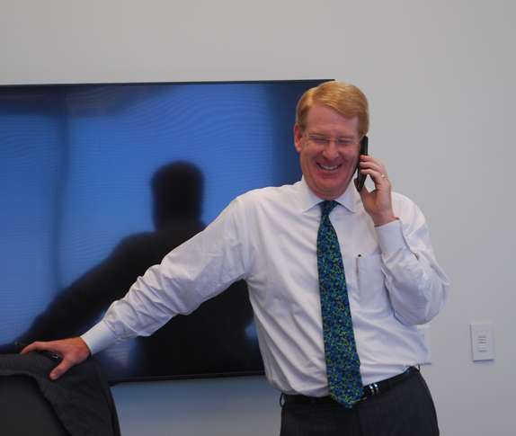 Harry M. Pete Johnson III volunteers at the member drive Phone-A-Thon