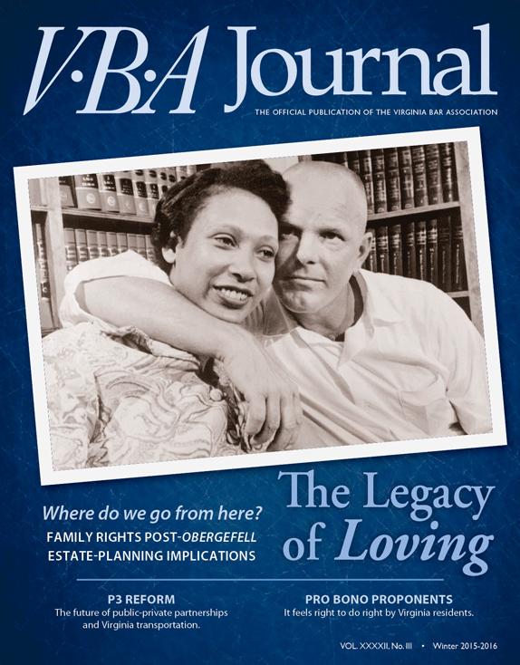 Winter 2015-16 VBA Journal cover