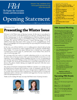 Winter 2012-2013 Opening Statement cover