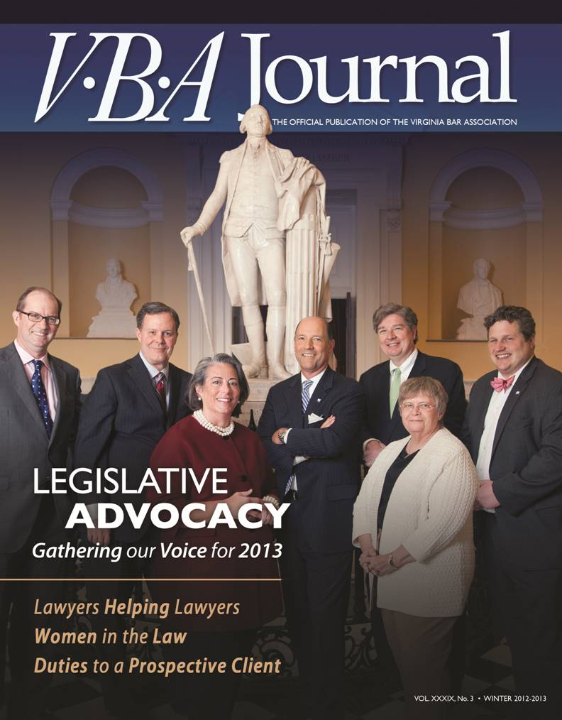 VBA Journal cover Winter 2012-13
