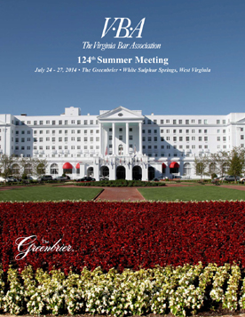 2014 Summer Meeting brochure cover